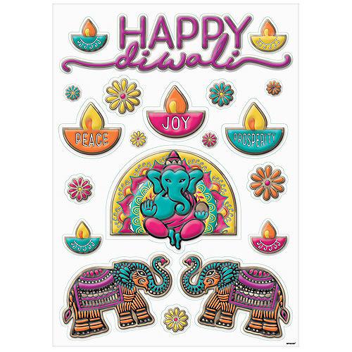 Embossed Diwali Window Decorations, 20pc Image #2