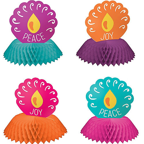 Mini Diwali Honeycomb Centerpieces, 4ct Image #1