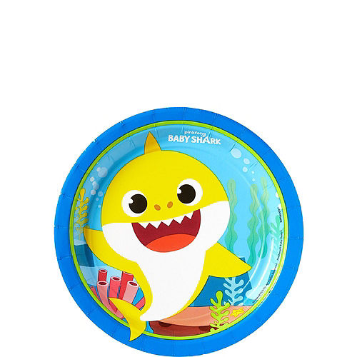 Baby Shark 1st Birthday Party Tableware Kit for 16 Guests Image #2