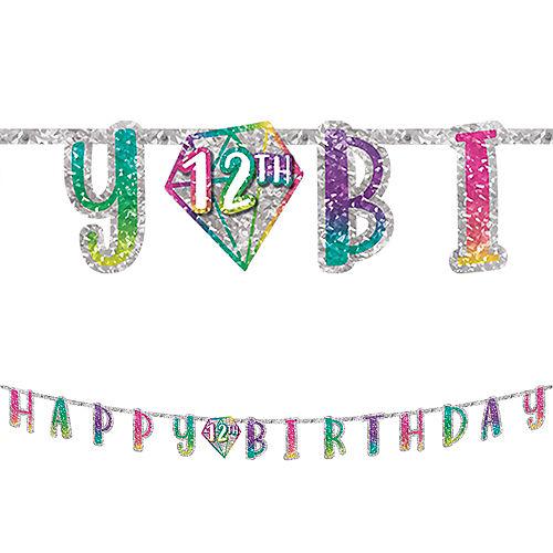 Prismatic Sparkle Birthday Banner Kit Image #1