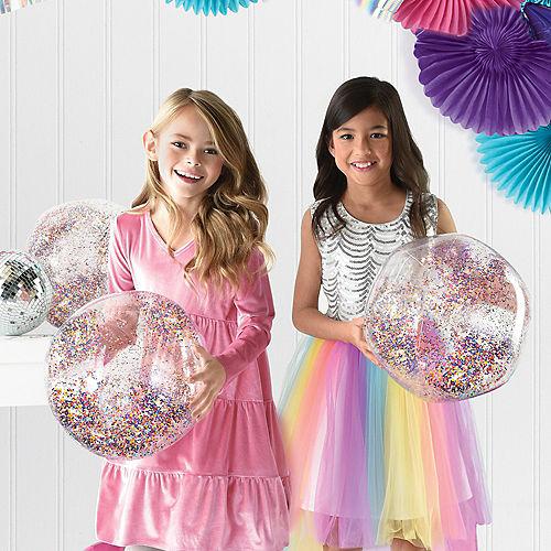 Sparkle Glitter Confetti Beach Balls, 4ct Image #1