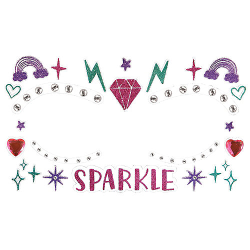 Sparkle Face Gems, 1 Sheet Image #1