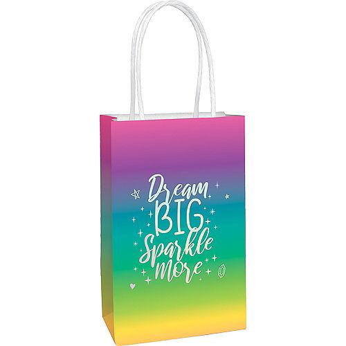 Metallic Sparkle Kraft Bags, 8ct Image #1