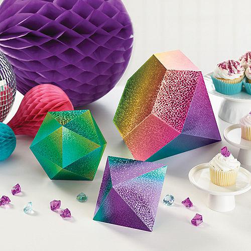 Prismatic Sparkle Jewel Table Decorations, 3pc Image #2