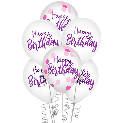 Sparkle Birthday Confetti Balloons, 12in, 6ct Image #1