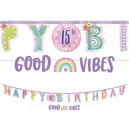 Girl-Chella Personalized Birthday Banner Kit, 2ct Image #1