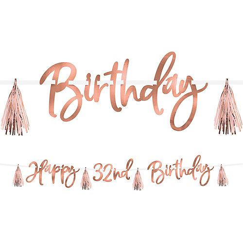 Metallic Blush Birthday Tassel Banner Kit Image #1