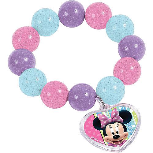 Minnie Mouse Bead Bracelets 6ct Image #1