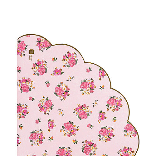 Floral Tea Party Scalloped Lunch Napkins 20ct Image #1