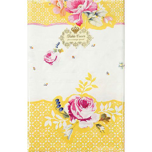 Floral Tea Party Paper Table Cover Image #2