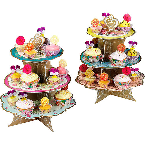 Floral Tea Party Cupcake Stand Image #1