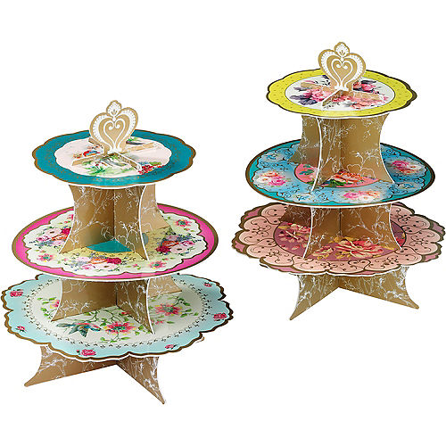 Floral Tea Party Cupcake Stand Image #2