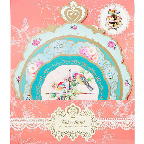 Floral Tea Party Cupcake Stand Image #3
