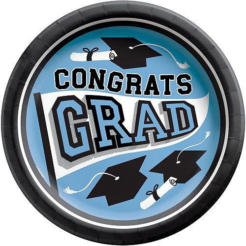 Congrats Grad Pastel Blue Graduation Party Kit for 100 Guests Image #3