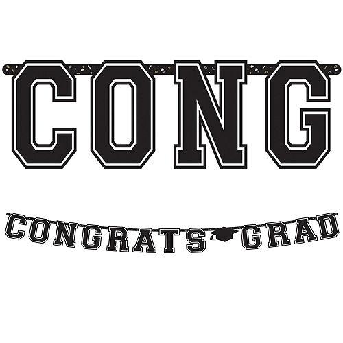 Congrats Grad Pastel Blue Graduation Party Kit for 100 Guests Image #10
