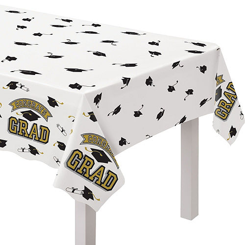Congrats Grad Gold Graduation Party Kit for 100 Guests Image #7