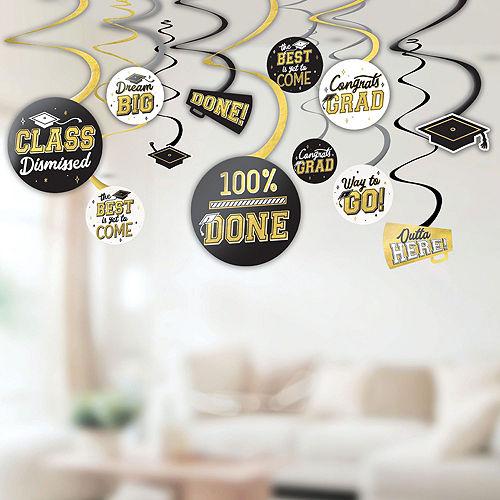 Congrats Grad Gold Graduation Party Kit for 100 Guests Image #8