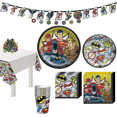 Justice League Heroes Unite Tableware Kit for 8 Guests Image #1