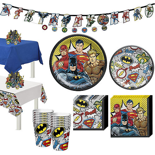 Justice League Heroes Unite Tableware Kit for 16 Guests Image #1