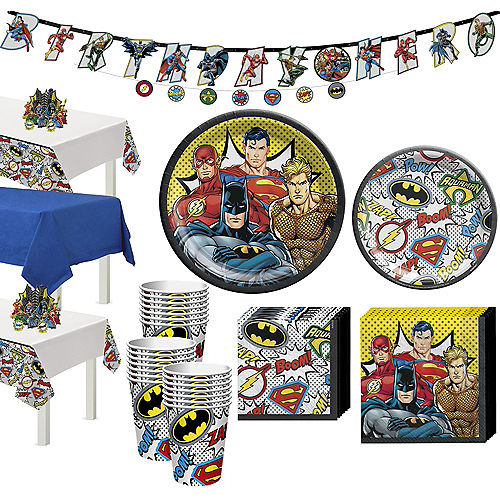 Justice League Heroes Unite Tableware Kit for 24 Guests Image #1