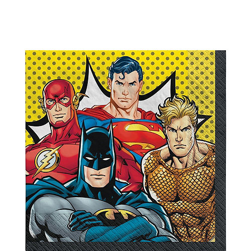 Justice League Heroes Unite Ultimate Tableware Kit for 16 Guests Image #5