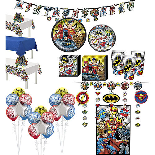Justice League Heroes Unite Ultimate Tableware Kit for 24 Guests Image #1