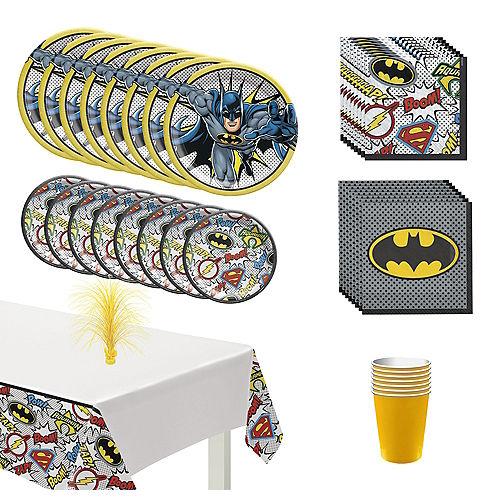 Justice League Heroes Unite Batman Tableware Kit for 8 Guests Image #1