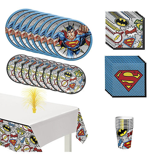 Justice League Heroes Unite Superman Tableware Kit for 8 Guests Image #1