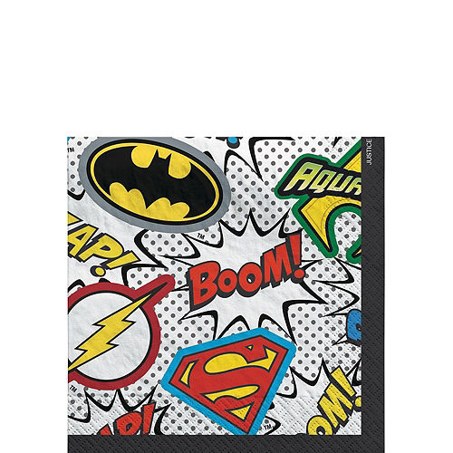 Justice League Heroes Unite Superman Tableware Kit for 8 Guests Image #4