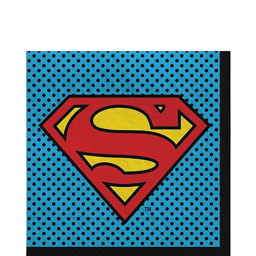Justice League Heroes Unite Superman Tableware Kit for 8 Guests Image #5
