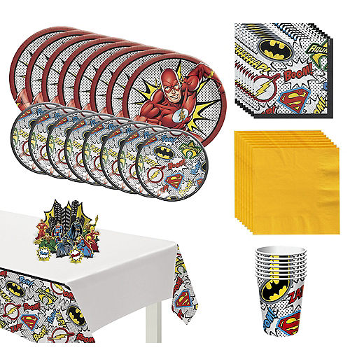 Justice League Heroes Unite The Flash Tableware Kit for 8 Guests Image #1