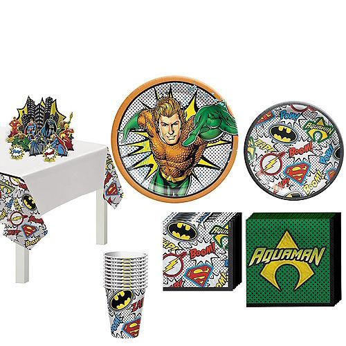Justice League Heroes Unite Aquaman Tableware Kit for 8 Guests Image #1