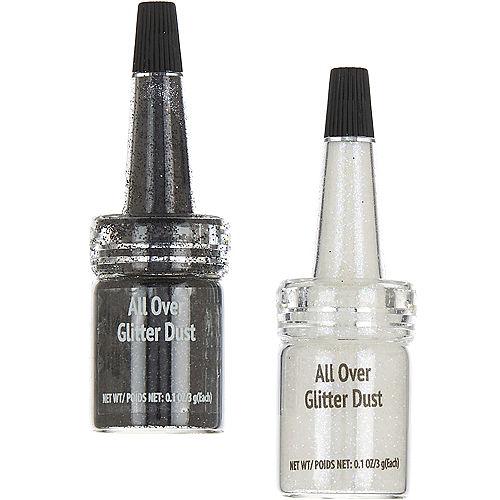 Black & White All Over Glitter Dust Image #1