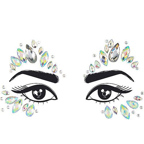 Iridescent Teardrop Face Gems Image #1