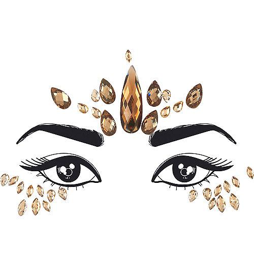 Rose Gold Teardrop Face Gems Image #1