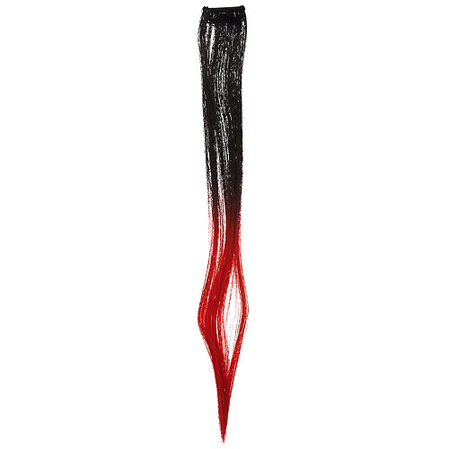 Black & Red Straight Hair Extension Image #1