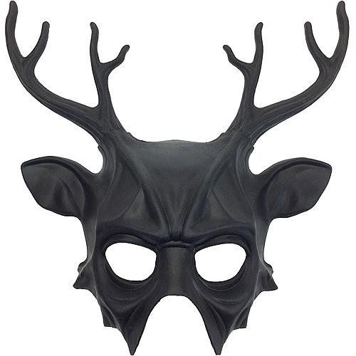 Black Druid Stag Mask Image #1