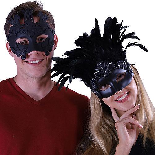 Acanthus Roman Couple's Mask Set - Black Image #1
