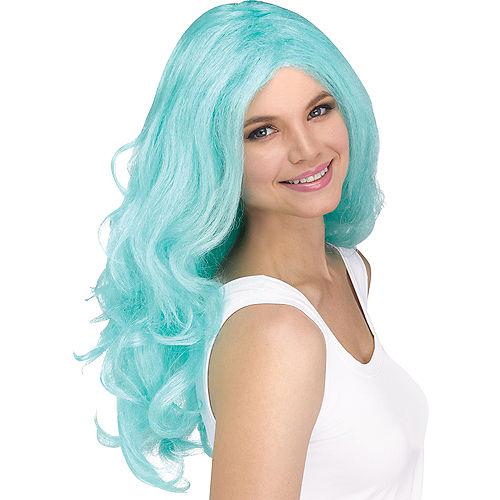 Luscious Teal Sorbet Wig Image #1