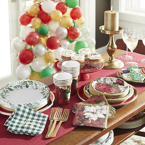 Christmas Poinsettia Dessert Plates, 6.75in, 60ct Image #2