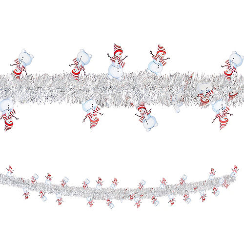 Snowman Tinsel Garland Image #1