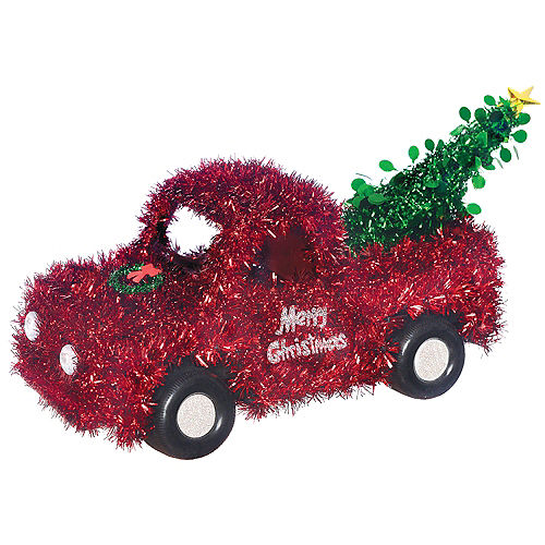 3D Tinsel Truck with Christmas Tree Image #1