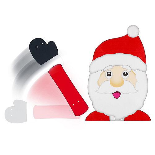 Waving Santa Window Wiper Decal Image #1