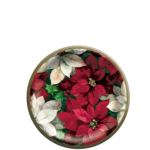 Christmas Poinsettia Tableware Kit for 100 Guests Image #2