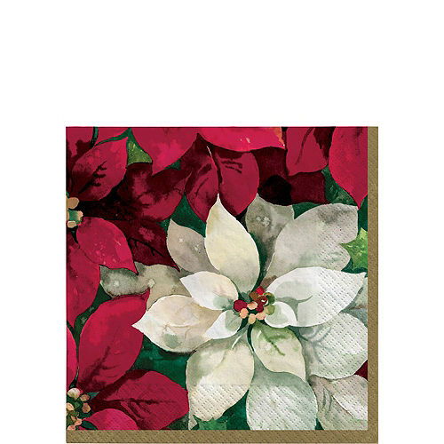 Christmas Poinsettia Tableware Kit for 100 Guests Image #4