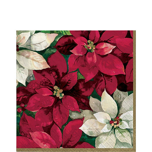 Christmas Poinsettia Tableware Kit for 100 Guests Image #5