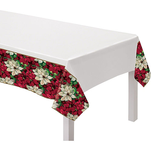Christmas Poinsettia Tableware Kit for 100 Guests Image #7
