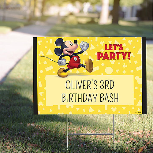 Custom Mickey Mouse Forever Yard Sign Image #1