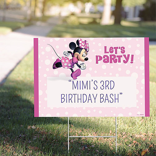Custom Minnie Mouse Forever Yard Sign Image #1