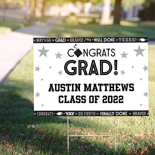 Custom Grid Graduation Photo Yard Sign Image #1
